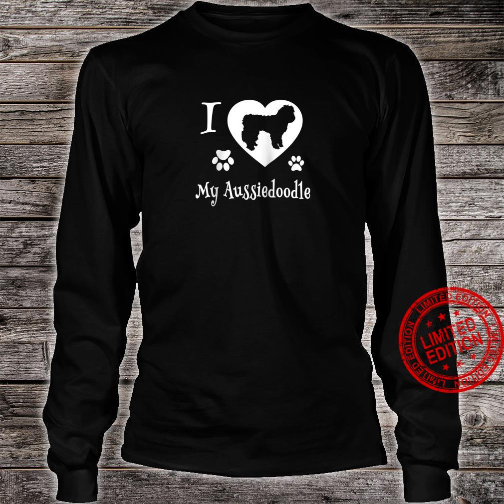 Aussiedoodle Shirt Design for Aussiedoodle Dogs Shirt long sleeved