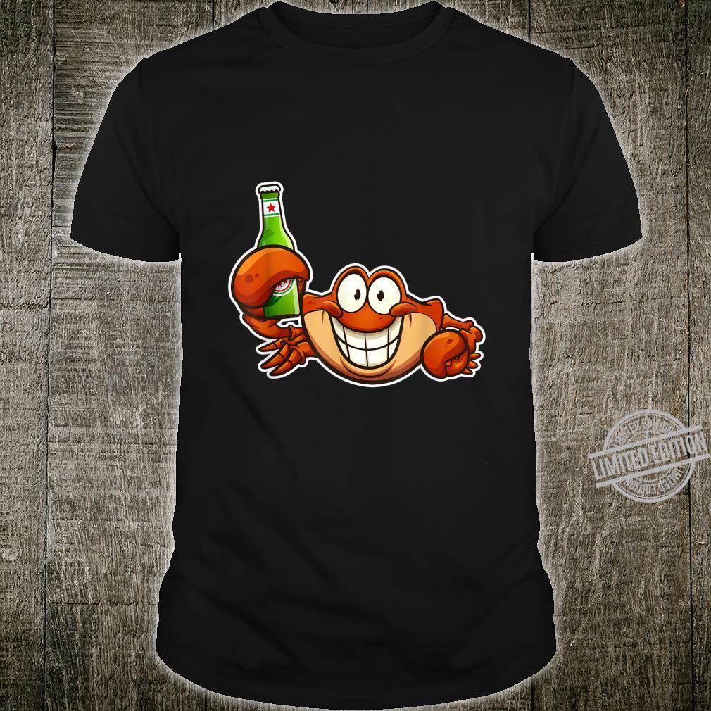 Drunk Beer Drinking Crabs Shirt