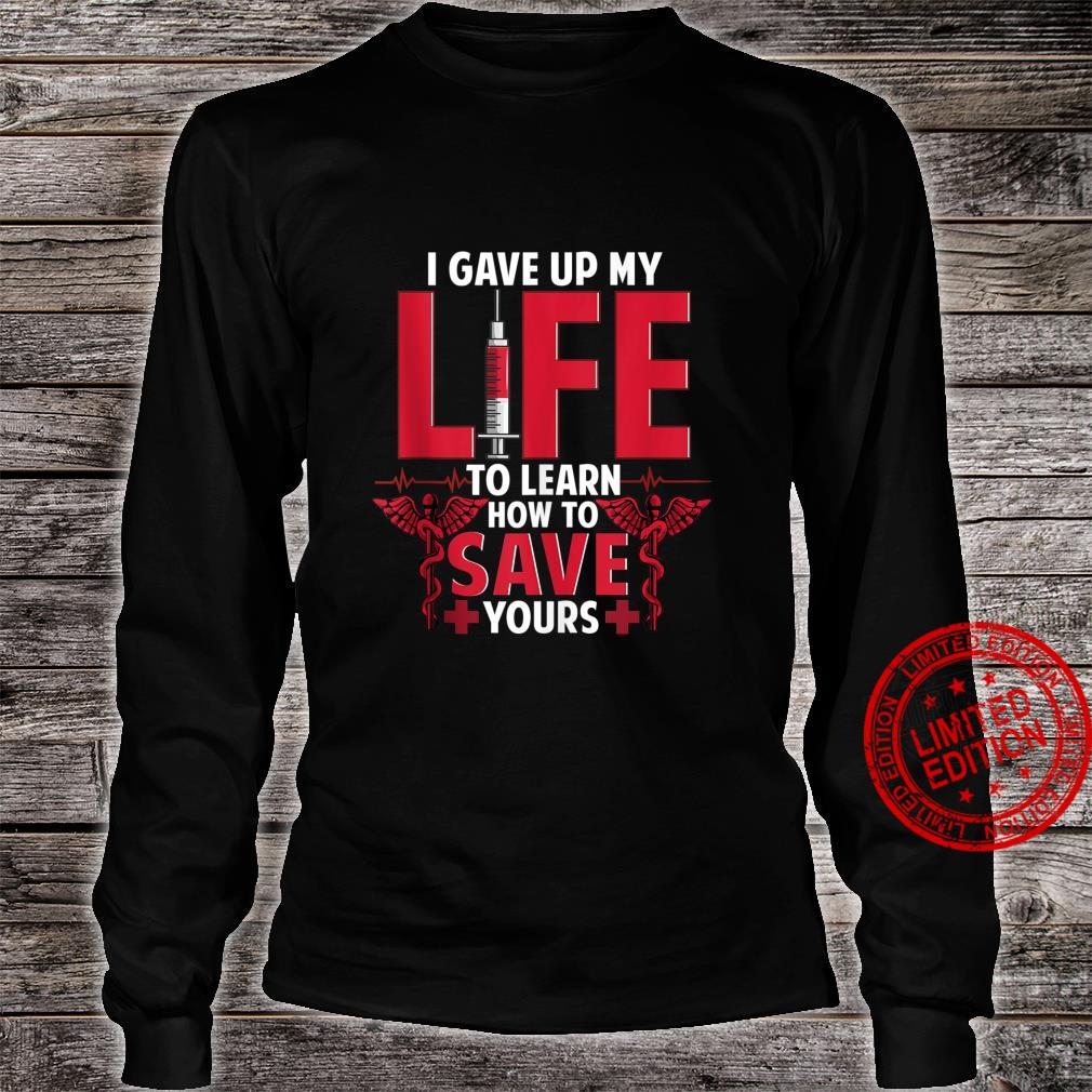 Frontline Hero Long Sleeve Hooded T-Shirt Respiratory Therapist Fire Co. Nurse Doctor EMS Medical Field