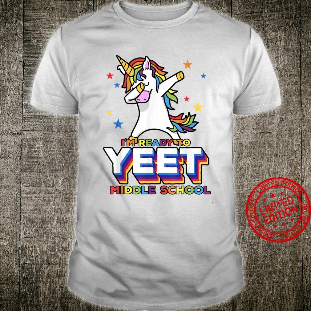 Middle School Yeet Dabbing Unicorn Dank Meme Shirt