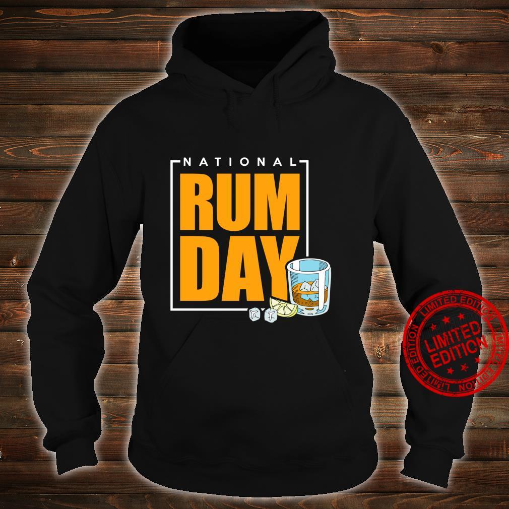 National Rum Day Shirt hoodie