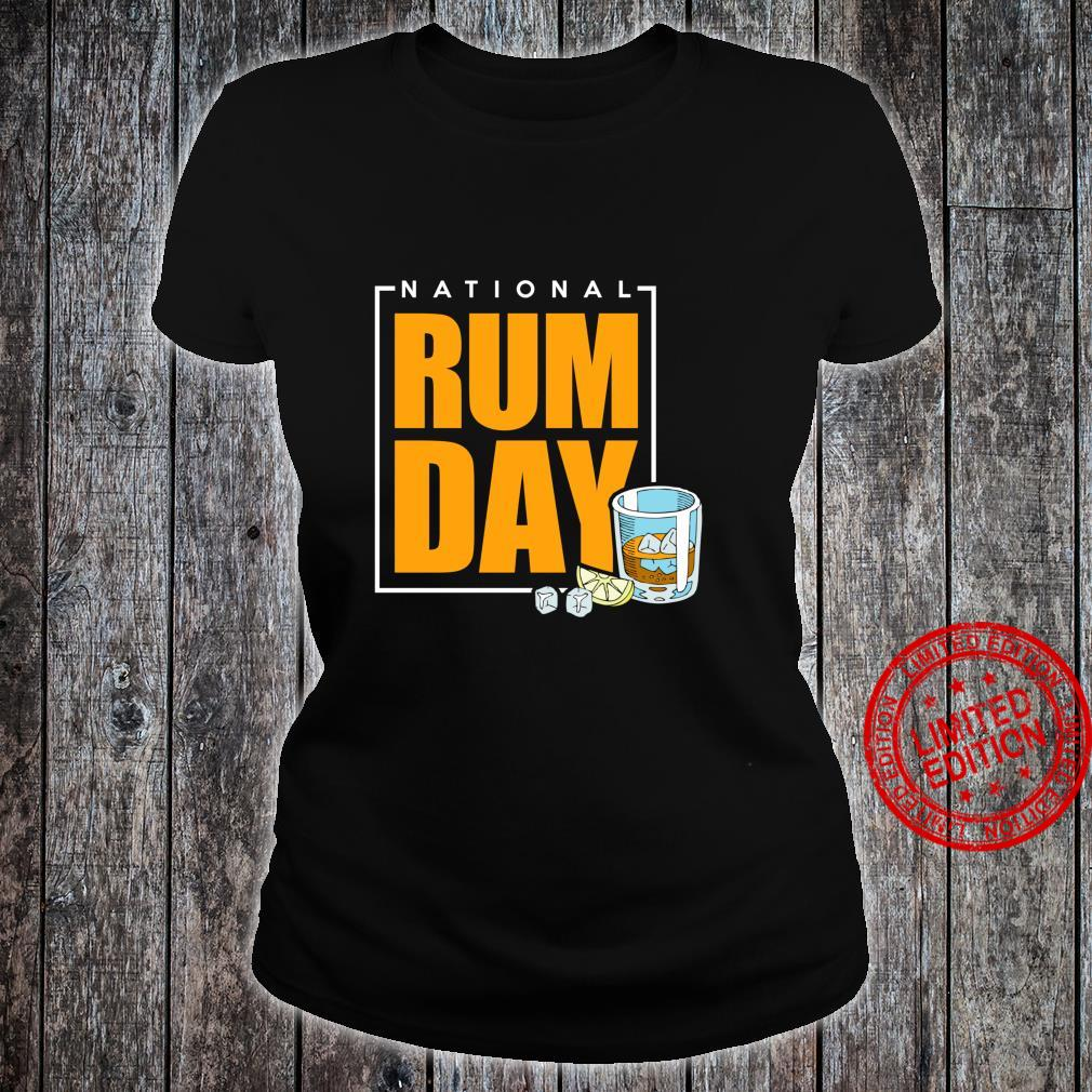 National Rum Day Shirt ladies tee
