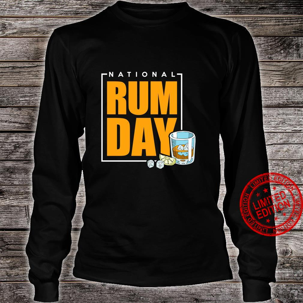 National Rum Day Shirt long sleeved