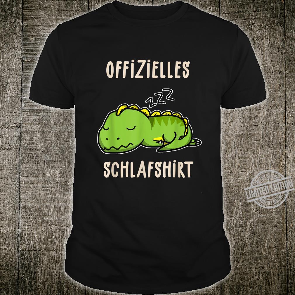 Offizielles Süßer Schalfender Dino TRex Schalfanzug Schlaf Shirt