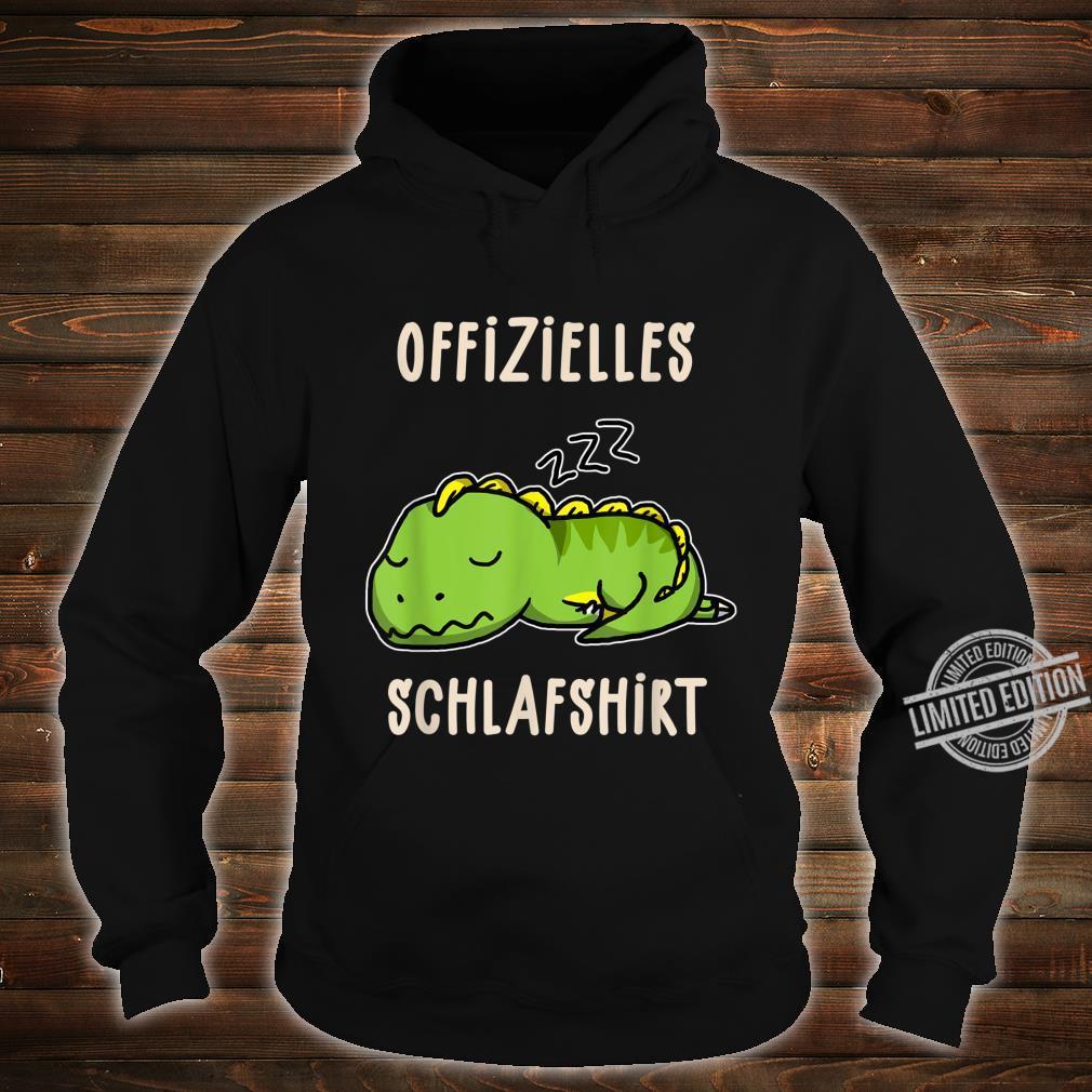 Offizielles Süßer Schalfender Dino TRex Schalfanzug Schlaf Shirt hoodie