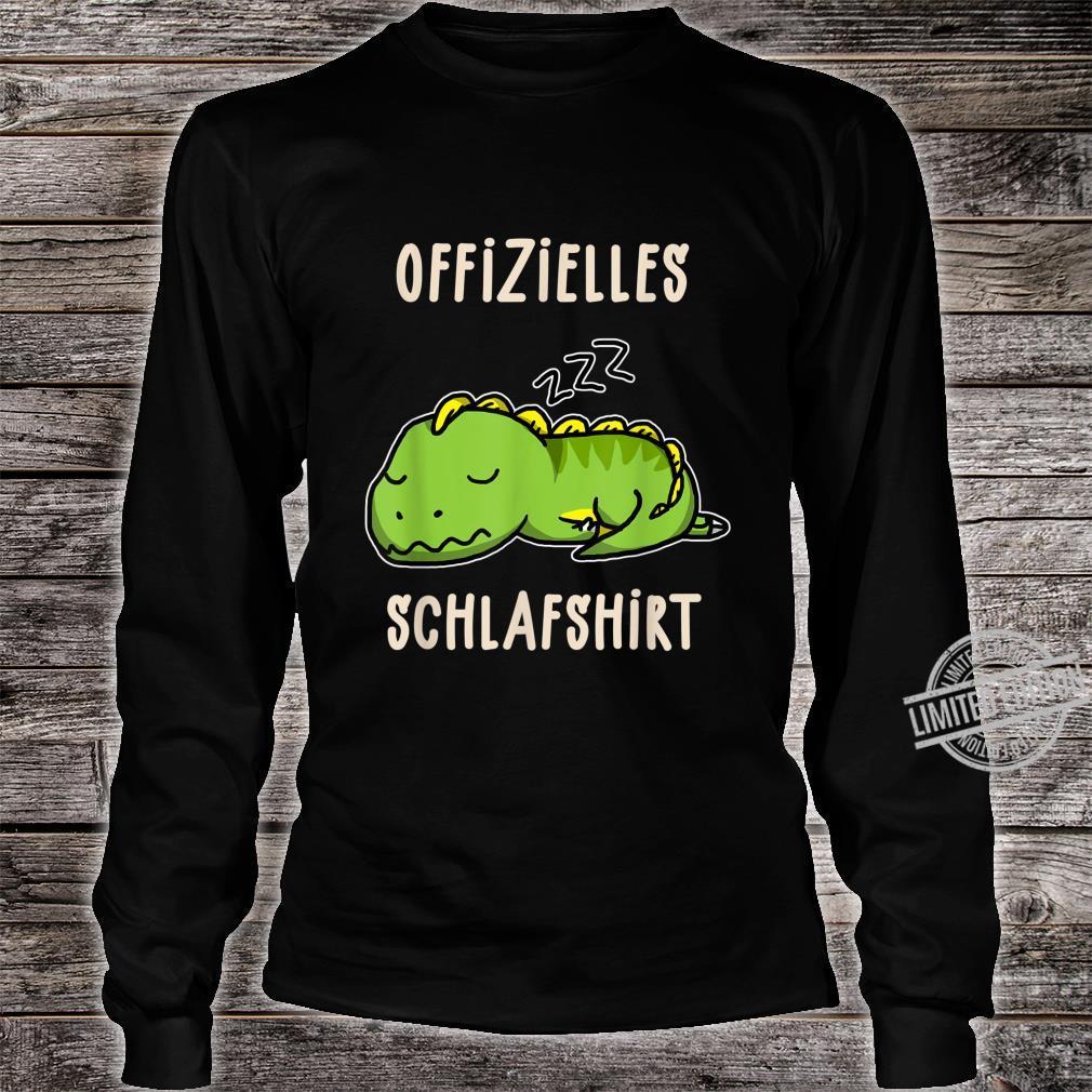 Offizielles Süßer Schalfender Dino TRex Schalfanzug Schlaf Shirt long sleeved