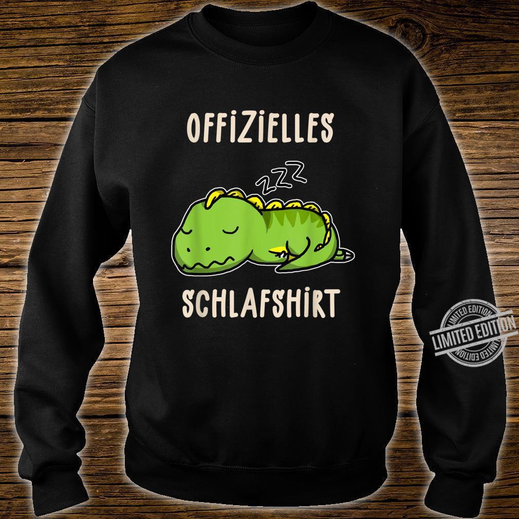 Offizielles Süßer Schalfender Dino TRex Schalfanzug Schlaf Shirt sweater