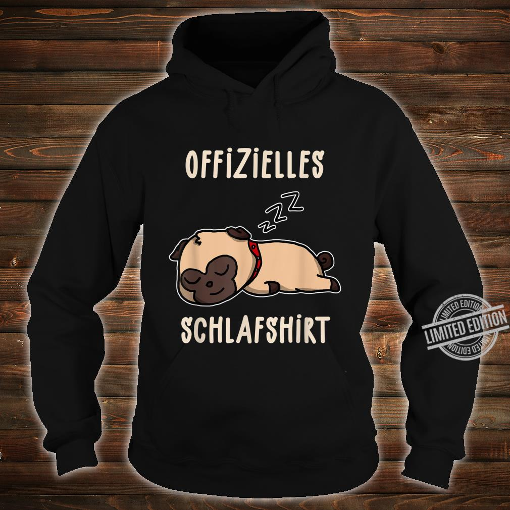 Offizielles Süßer Schalfender Hund Hunde Schalfanzug Schlaf Shirt hoodie