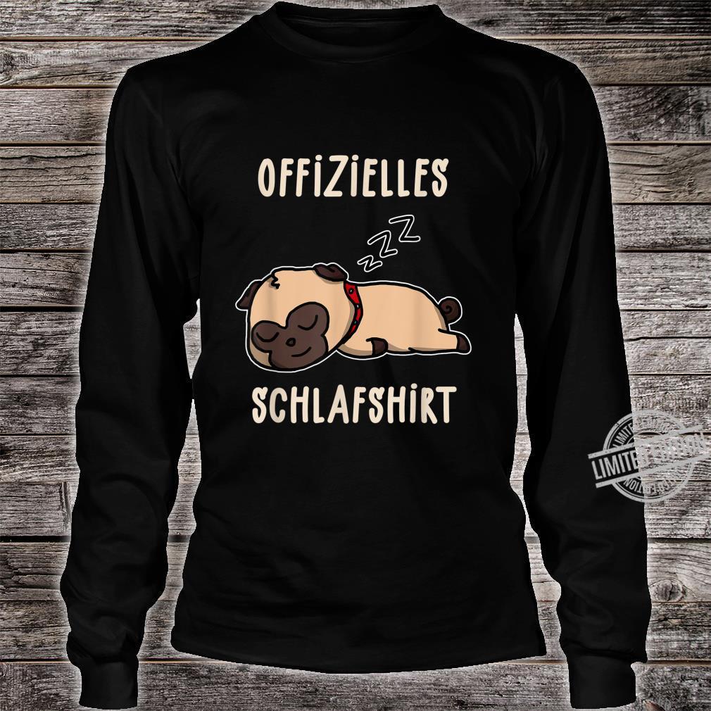 Offizielles Süßer Schalfender Hund Hunde Schalfanzug Schlaf Shirt long sleeved