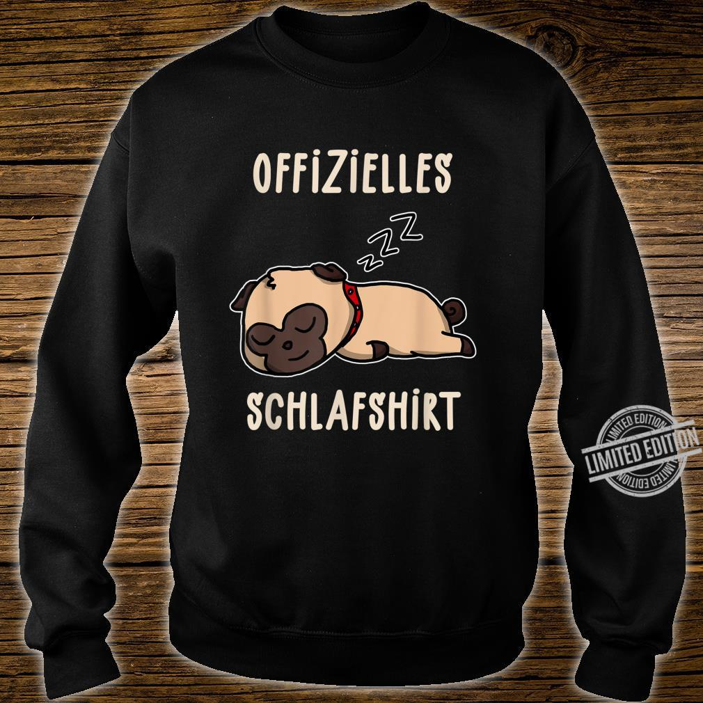 Offizielles Süßer Schalfender Hund Hunde Schalfanzug Schlaf Shirt sweater