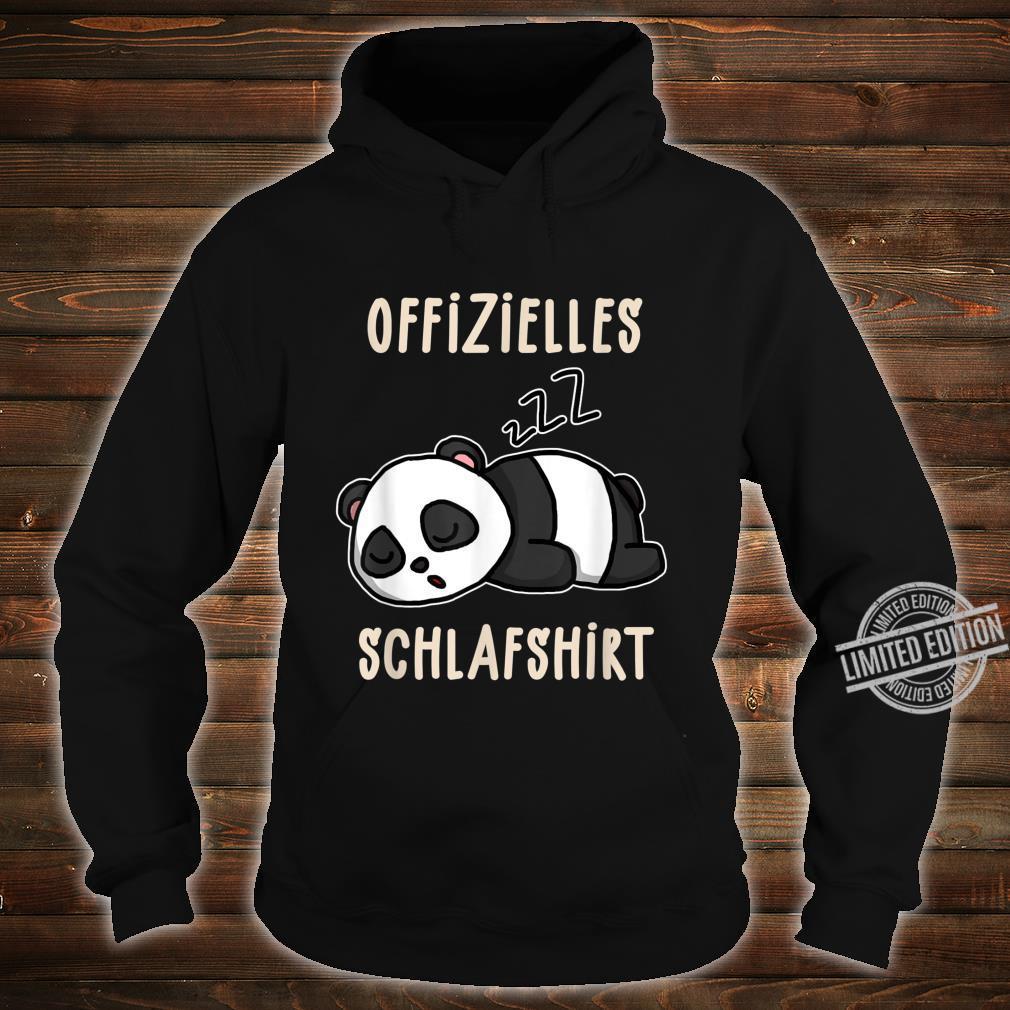 Offizielles Süßer Schalfender Panda Schalfanzug Schlaf Shirt hoodie