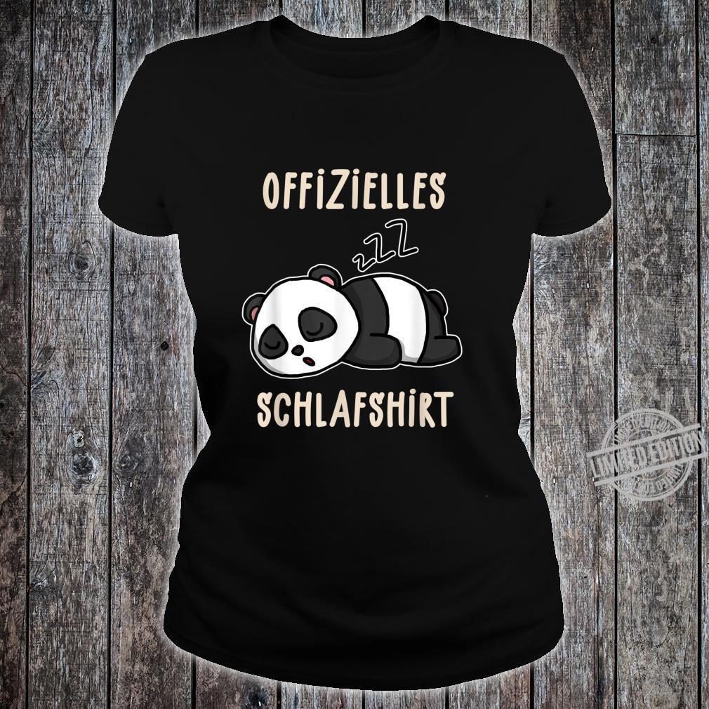 Offizielles Süßer Schalfender Panda Schalfanzug Schlaf Shirt ladies tee
