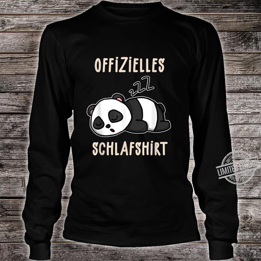 Offizielles Süßer Schalfender Panda Schalfanzug Schlaf Shirt long sleeved