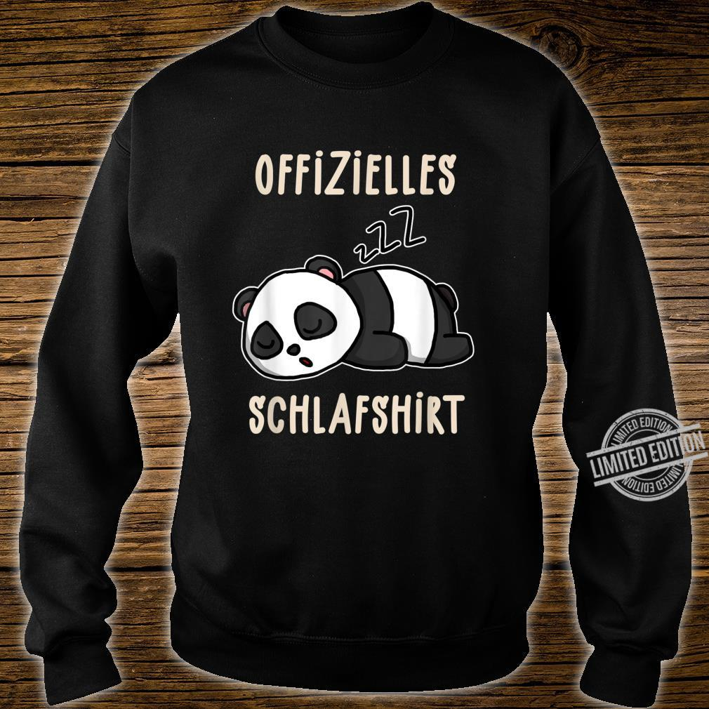 Offizielles Süßer Schalfender Panda Schalfanzug Schlaf Shirt sweater