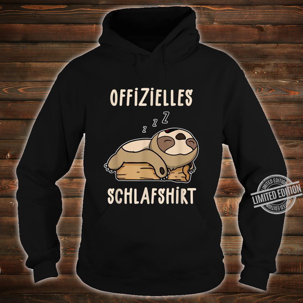 Offizielles Süßes Schalfendes Faultier Schalfanzug Schlaf Shirt hoodie