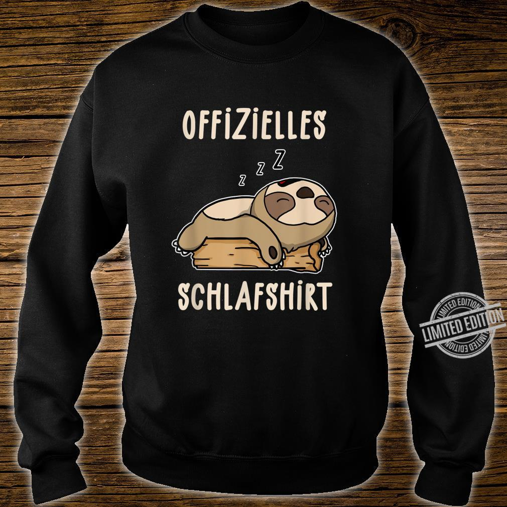 Offizielles Süßes Schalfendes Faultier Schalfanzug Schlaf Shirt sweater
