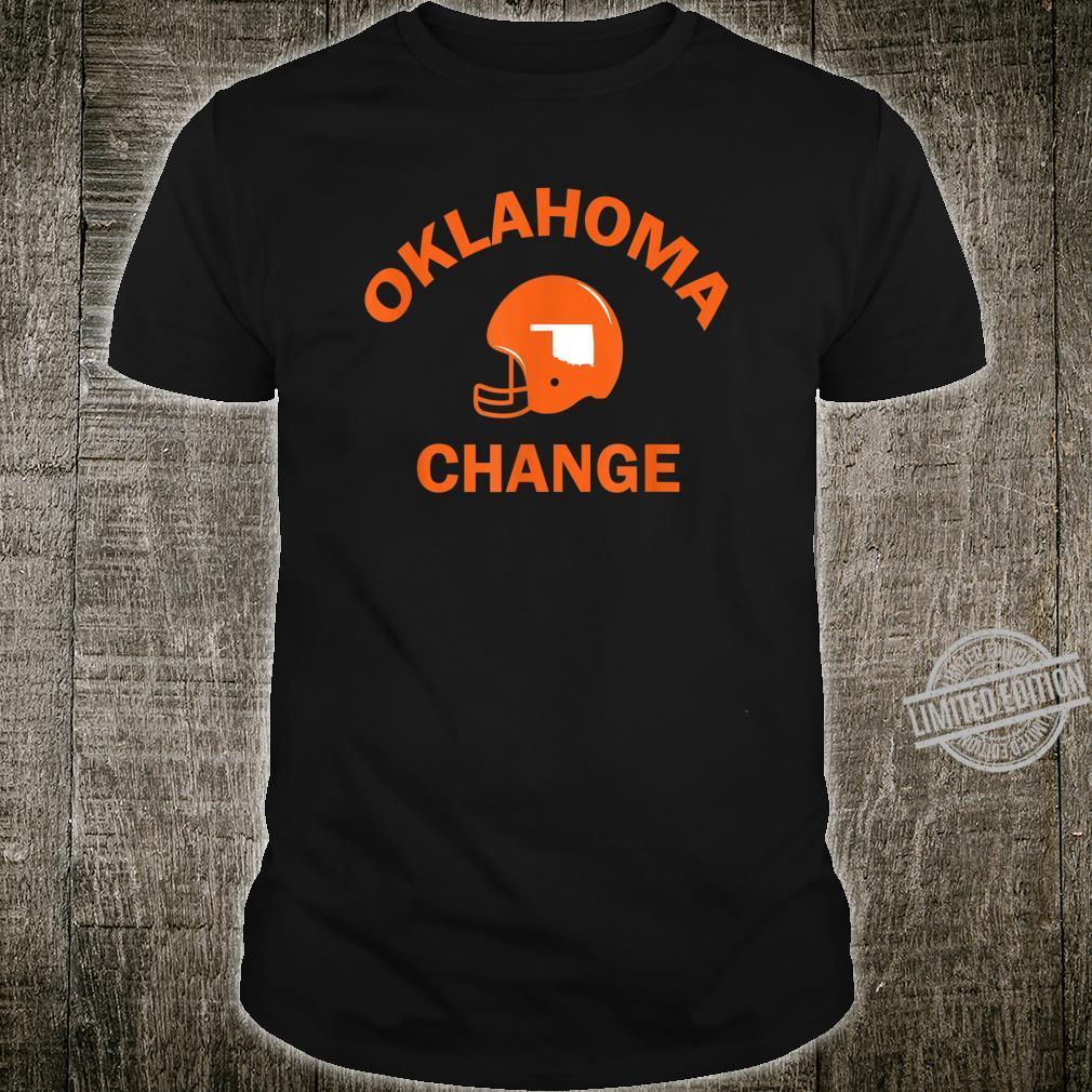 Oklahoma State American Football OK Change Coach Shirt