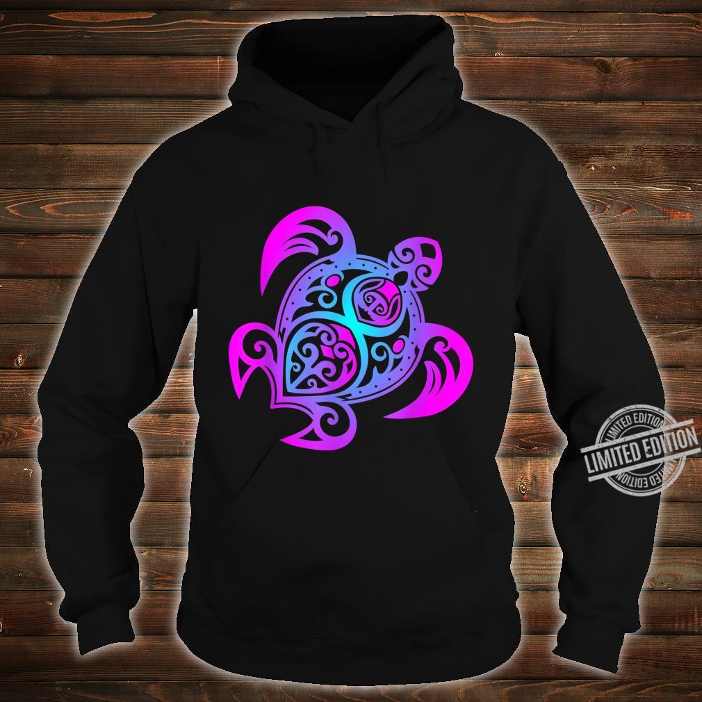 Ozean Tauchen Bunte Farben Tribal Stil Schildkröte Shirt hoodie