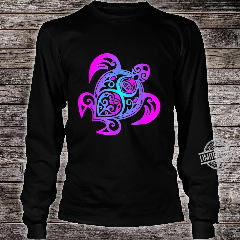 Ozean Tauchen Bunte Farben Tribal Stil Schildkröte Shirt long sleeved