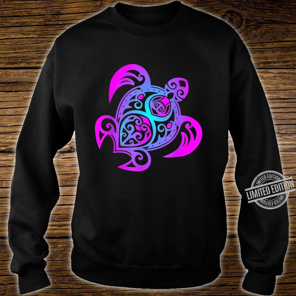 Ozean Tauchen Bunte Farben Tribal Stil Schildkröte Shirt sweater