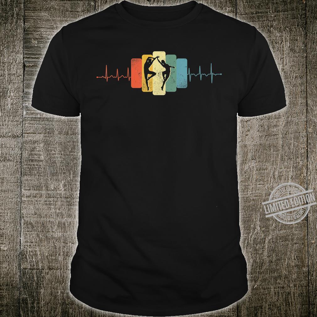 Paartanz Herzschlag Tanzen Tanz EKG Vintage Retro Shirt