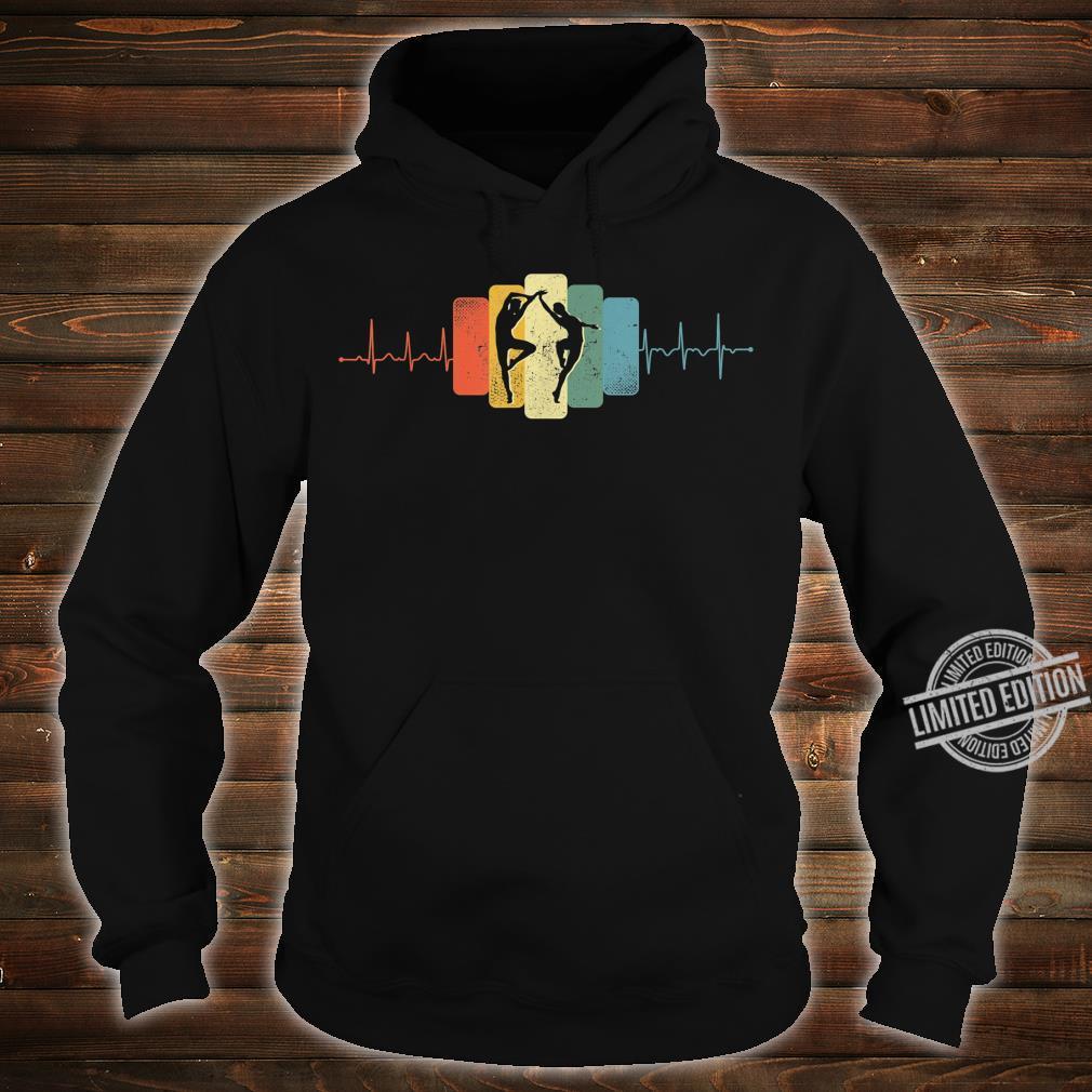 Paartanz Herzschlag Tanzen Tanz EKG Vintage Retro Shirt hoodie
