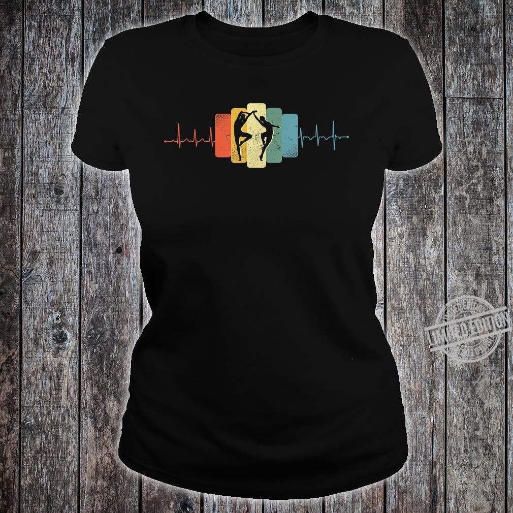 Paartanz Herzschlag Tanzen Tanz EKG Vintage Retro Shirt ladies tee