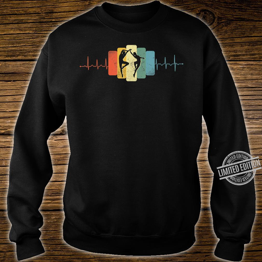 Paartanz Herzschlag Tanzen Tanz EKG Vintage Retro Shirt sweater
