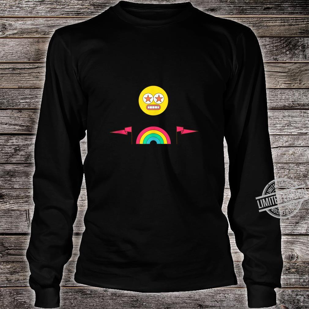Party Rainbow Emoji Face Festival Design Shirt long sleeved