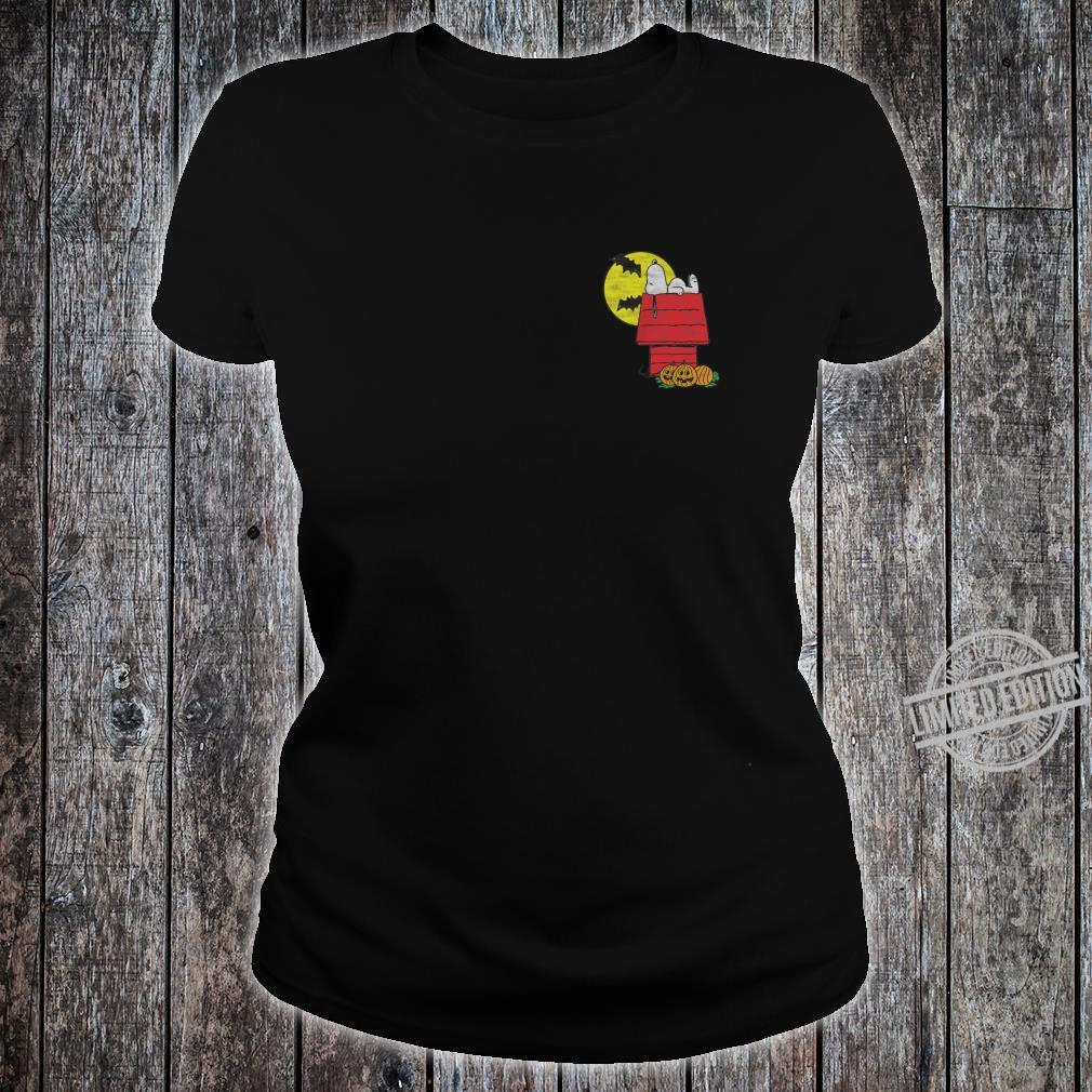 Peanuts Halloween Snoopy Chillin Shirt ladies tee