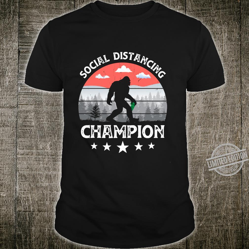 Social Distancing Bigfoot Champion Antisocial Sasquatch Shirt