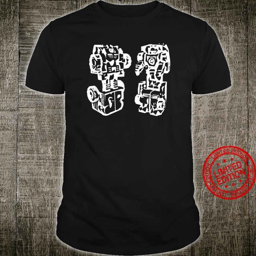 Two Robots Named Peace & Love Shirt