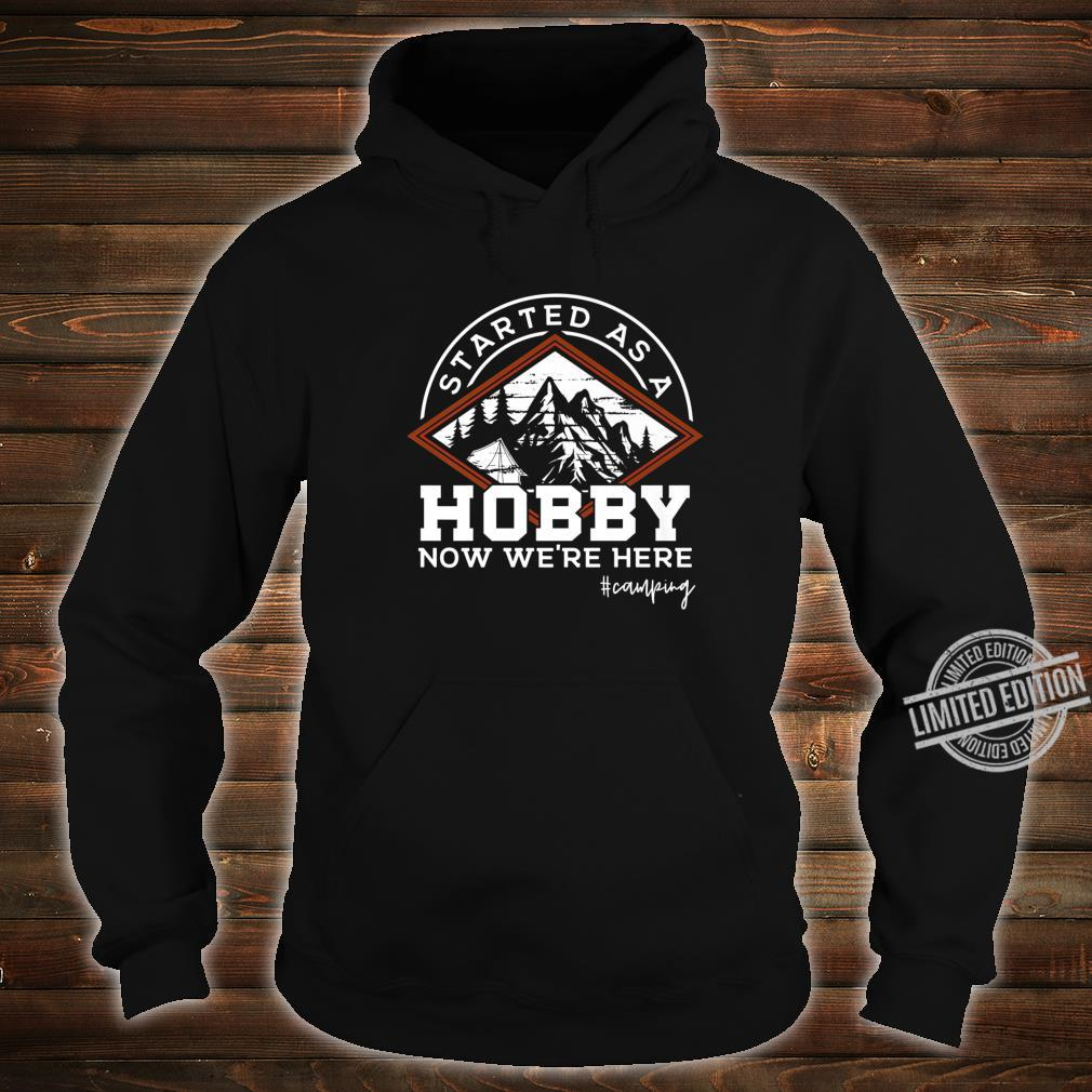 Vintage Camper Addicted to Camping Mountains Outdoors Shirt hoodie