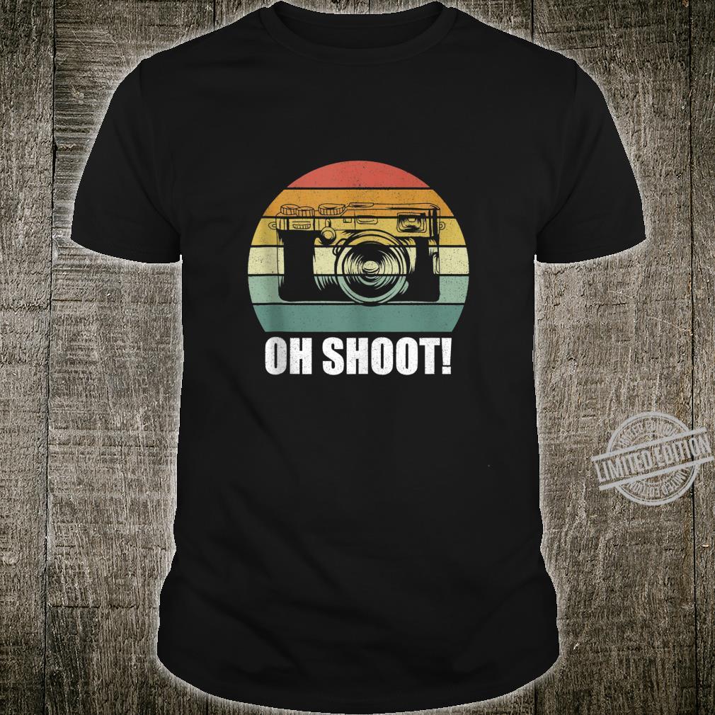 Vintage Retro Oh Shoot Camera Photography Shirt
